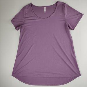 LuLaRoe Classic T solid lavendar top